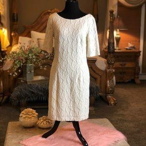 Ann Taylor Cream Color Dress Size 6